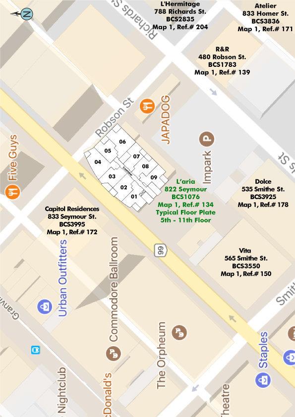 L'aria Area Map