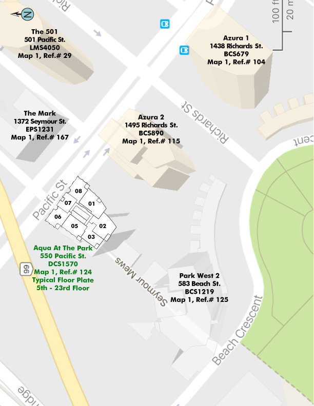 Aqua At The Park Area Map