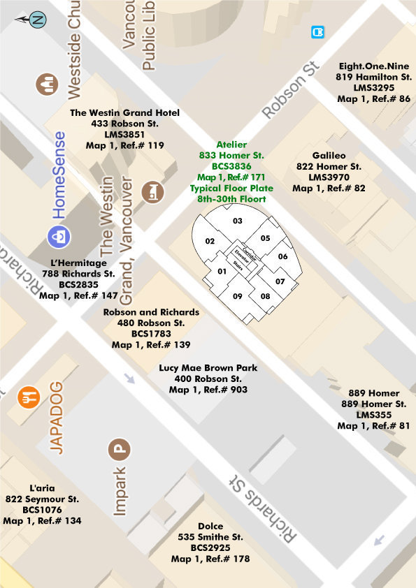 Atelier Area Map