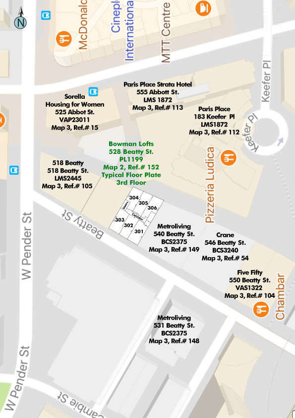 Bowman Lofts Area Map