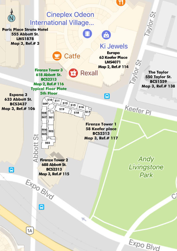 Firenze Tower III Area Map