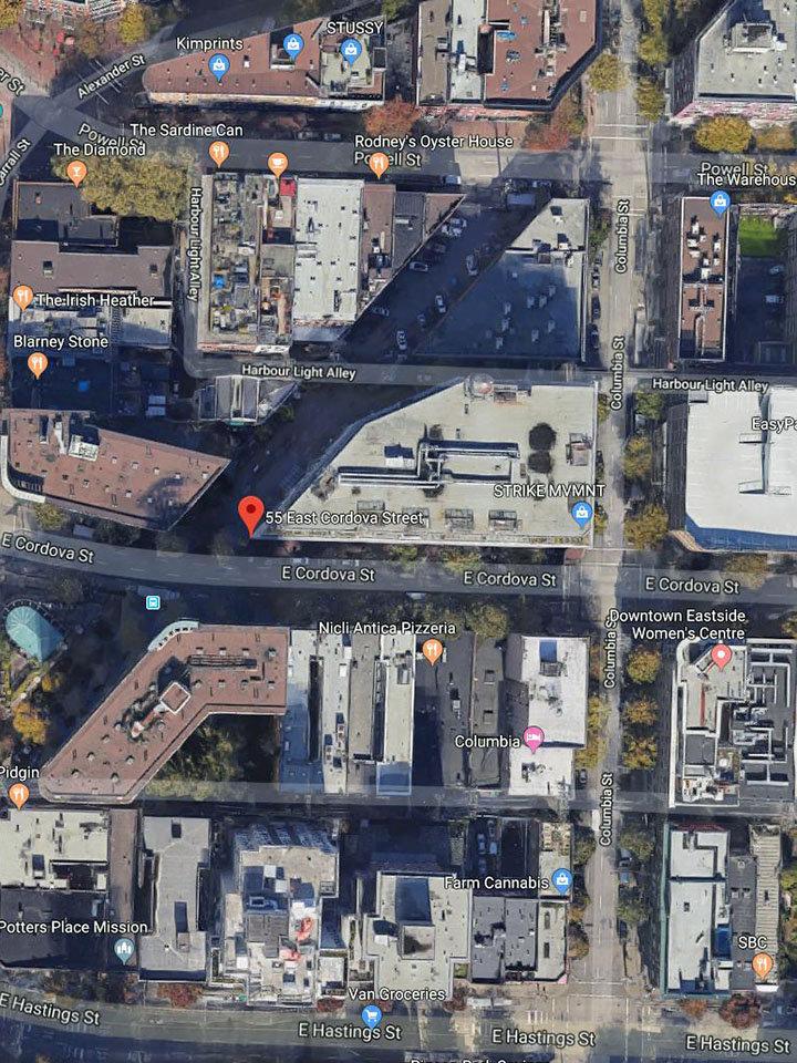 Koret Lofts Area Map