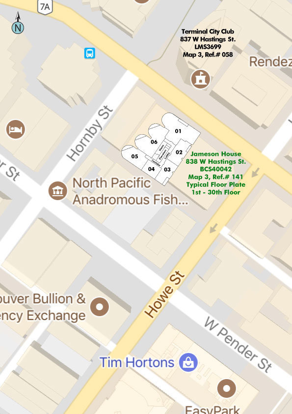 Jameson House Area Map