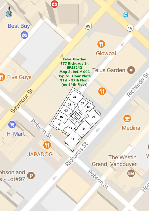 Telus Garden Area Map