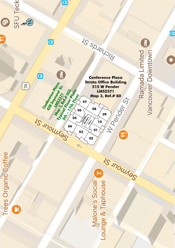 Conference Plaza Area Map
