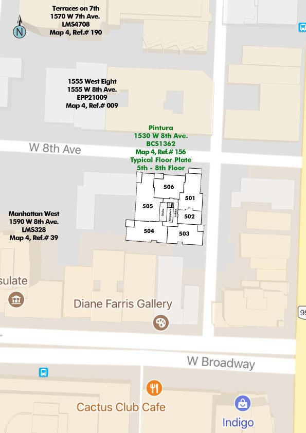 Pintura Area Map