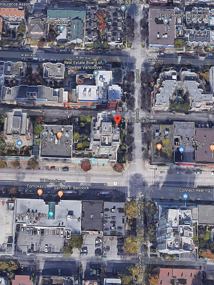 Skyline on Broadway Area Map
