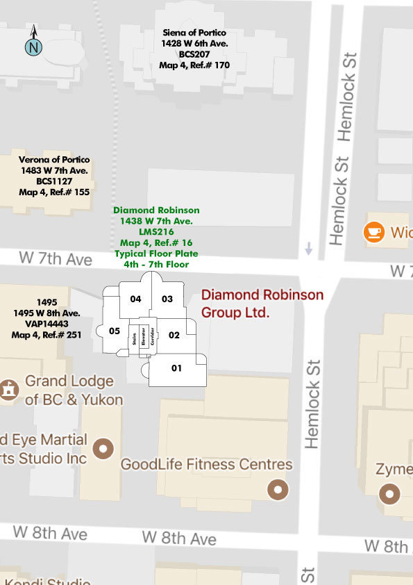 Diamond Robinson Area Map