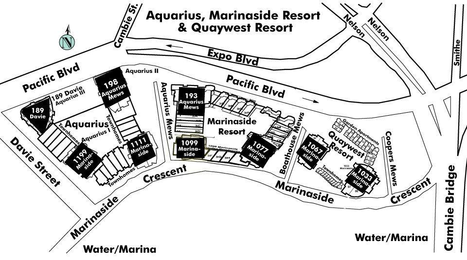 Aquarius Villas Area Map