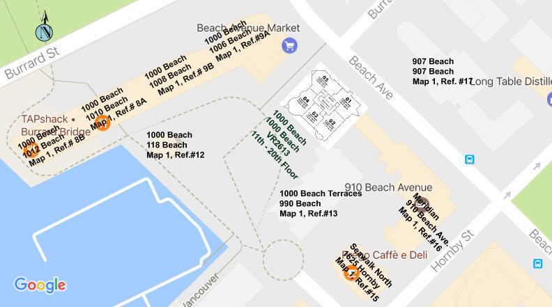 1000 Beach Area Map