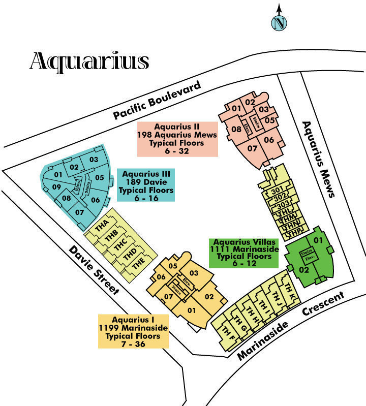Aquarius 1 Area Map