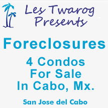 4 Condos For Sale In Cabo, Mx.